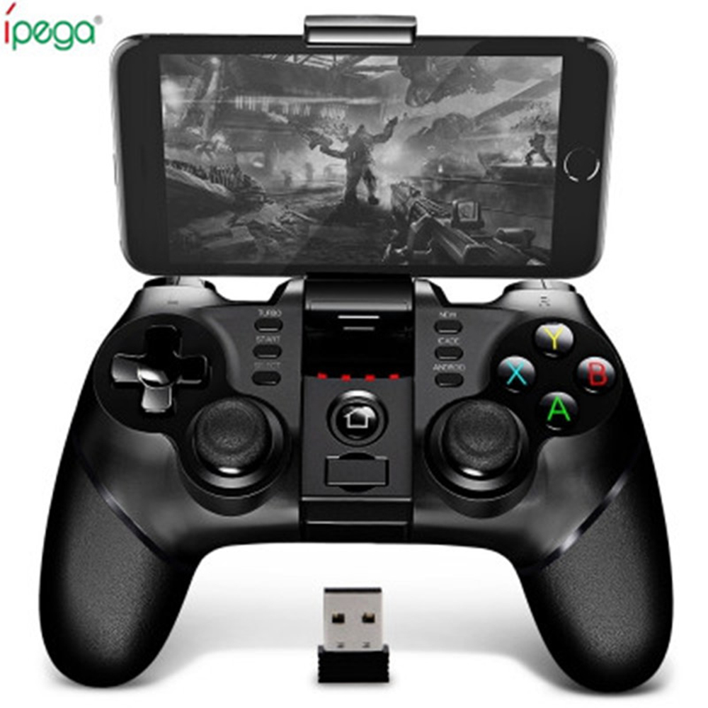 iPega PG - 9076 9077 Wireless Bluetooth Gamepad 2.4G Bracket Joystick Android Win Game Console Player For SmartPhone PS3