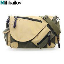 Hohe Qualität Multifunktions Leinwand Reisetasche Handtasche Männer Umhängetasche Marke herren Umhängetasche Luxus Vintage Stil KY-141