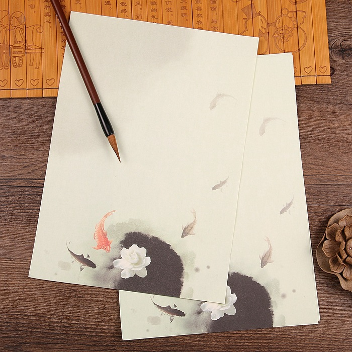 Fish writing paper