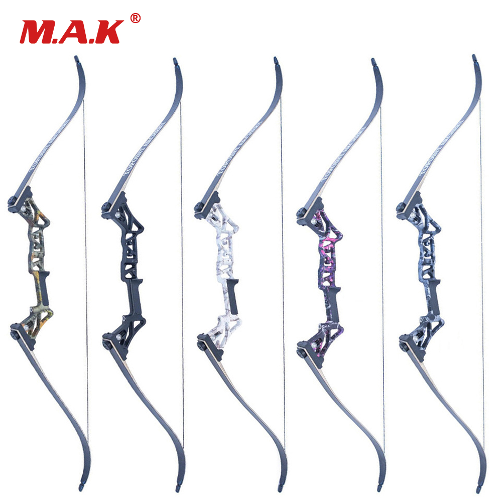 5 Colors 30-50 Lbs 58 Inches Vertex Recurve Bow Fishing Bow Aluminum Alloy Bow Handle for Outdoor Archery Hunting Shooting 2 color 58 inches american hunting recurve bow 25 50 lbs for outdoor archery hunting target shooting