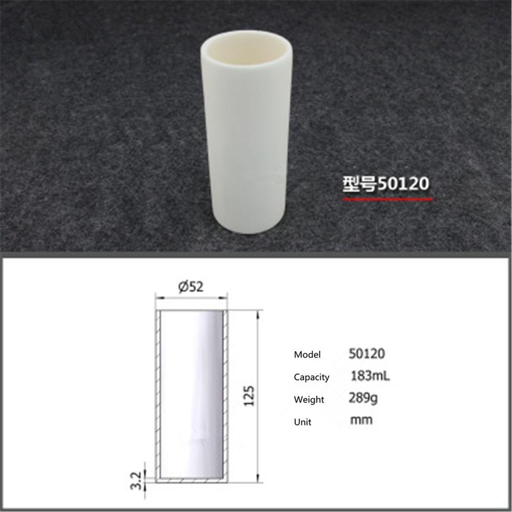 99.5% Cylindrical corundum crucible/183ml 50120/Temperature resistance 1600 degree / sintered ceramic crucibl99.5% Cylindrical corundum crucible/183ml 50120/Temperature resistance 1600 degree / sintered ceramic crucibl