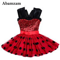 Summer Baby Girls Dress Black Dot Sequined Christmas Clothes Dresses For Girl Sequins And Mesh Party