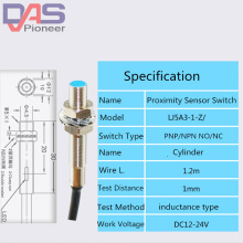 Cylinder Inductive Proximity Sensor Switch LJ5A3-1-Z/BX/AX/BY/AY/EX 3/2-wire PNP/NPN NO NC DC6~36V M5  1mm