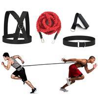 Cuerda de resistencia Bungee Set Fitness Taekwondo Hockey fútbol baloncesto esgrima saltar movimiento Lateral Sprint entrenamiento de velocidad excesiva