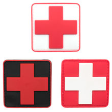 Medic Paramedic Tactical Army Morale Badge Mini 3D PVC ยางสีแดงข้ามธงสวิต(China)