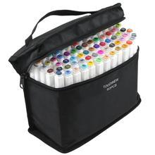التوأم قلم (ماركر) بسن مشطوف مجموعة Touchfive الكتابة على الجدران مجموعة أقلام تحديد Touchnew رسم علامات 60 الألوان قلم رسم مانغا تصميم للمدرسة