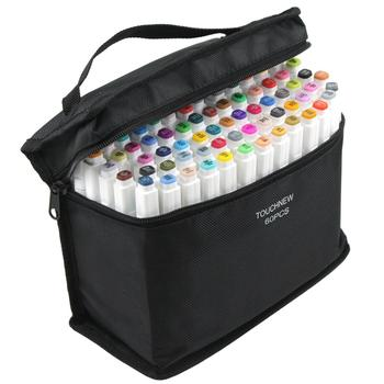Twin Pinsel Marker Set Touchfive Graffiti Marker Pen-Set Touchnew Skizzieren marker 60 Farben Zeichnung Stift Manga Design für Schule