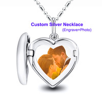 Custom necklace women necklaces pendants statement necklace choker heart silver 925 chain jewlery wedding party girl couple gift