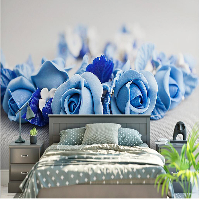3d Wallpaper Home Decor Wallpapers Hd Blue Rose Flowers Beautiful