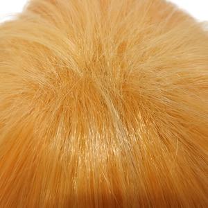 Image 4 - L e mail peruca demon slayer zenitsu agatsuma cosplay perucas kimetsu não yaiba cosplay curto cor mista peruca de cabelo sintético perucas