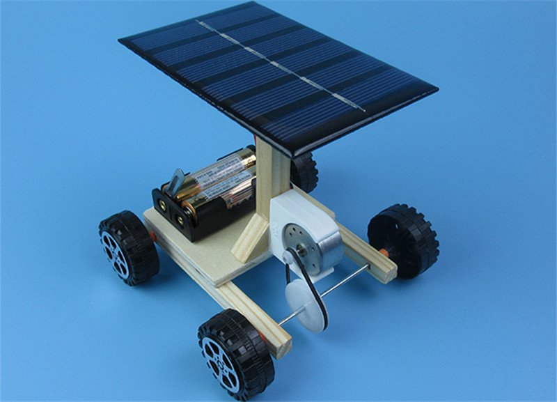 HTB1JAF.h.FWMKJjSZFvq6yenFXas - DIY Hand Assembling solar electrical energy generation  combination driven vehicle car Physics technology gizmo