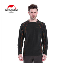 Naturehike Men's thermal Pullovers Outdoor fleece clothing antistatic soft  jackets liner warm full sleeve Underwear T-shirt Man