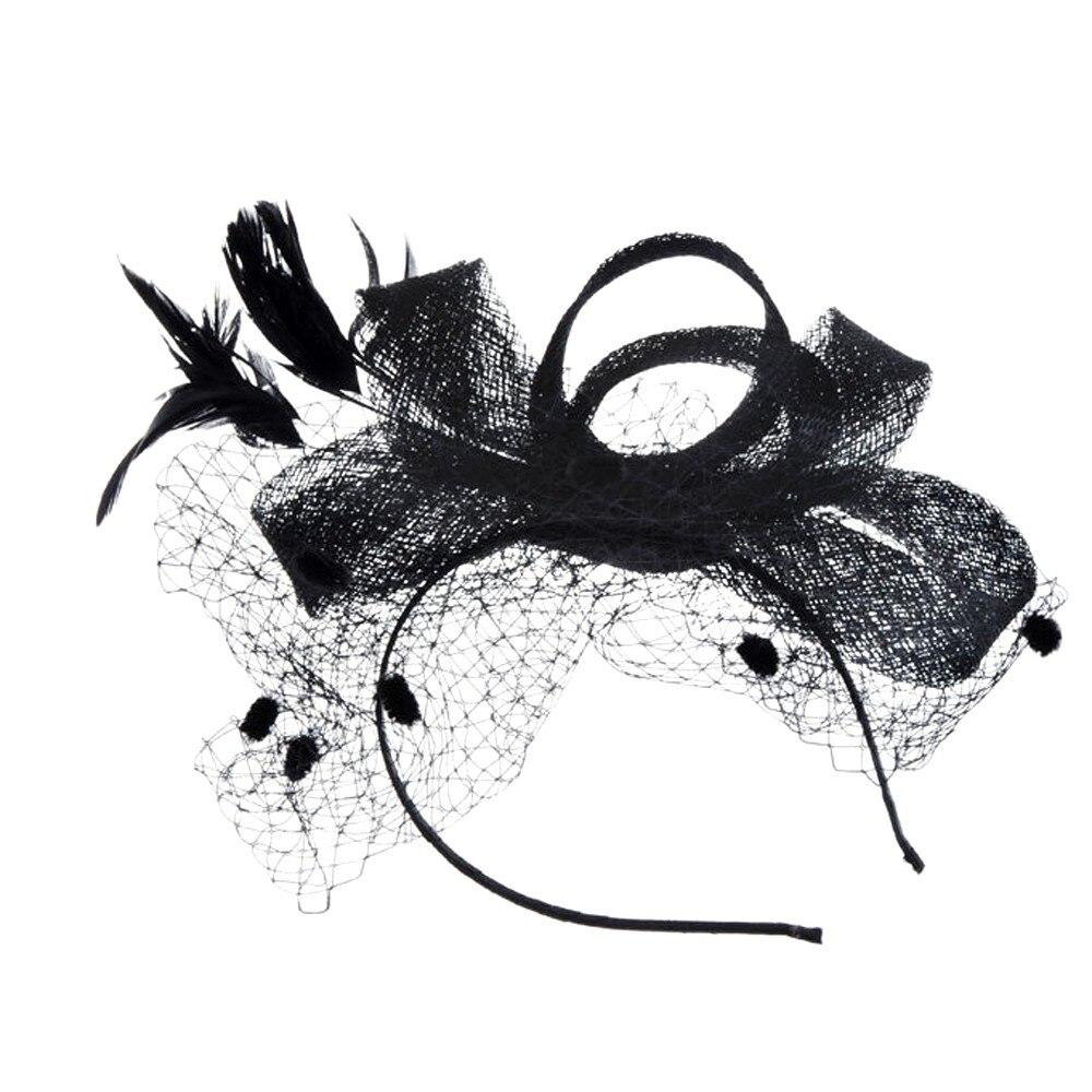 Chapeau De Mariage Plume et voile