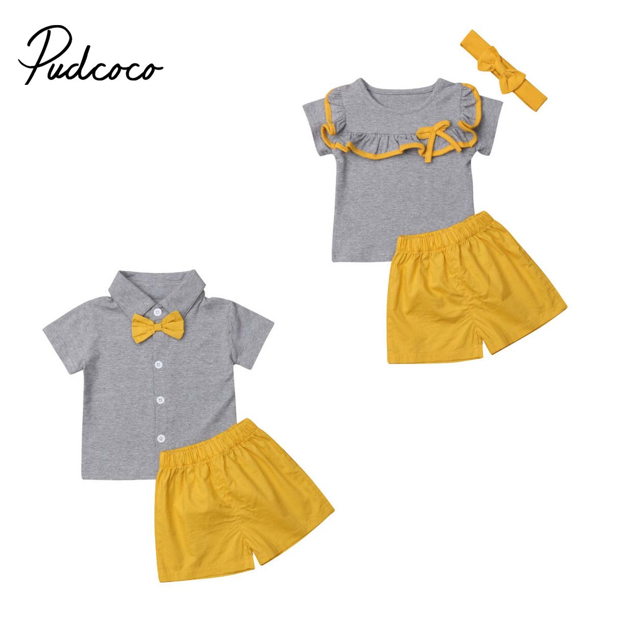 Baby Products Baby Boys 0-24m puseky Baby Boy Little Brother Big Brother Matching Outfits Camouflage Bow Tie Shirt Tops Jeans Pants Set