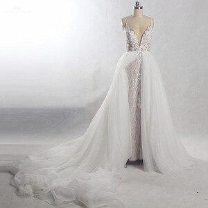 Image 1 - RSW815 съемное длинное свадебное платье со шлейфом 2 в 1