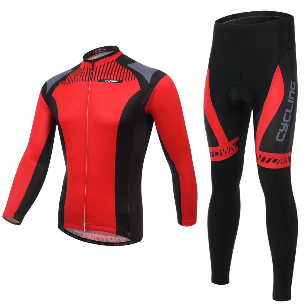 red riding bicycle wear long sleeved suit is the spring and autumn moisture quick drying underwear