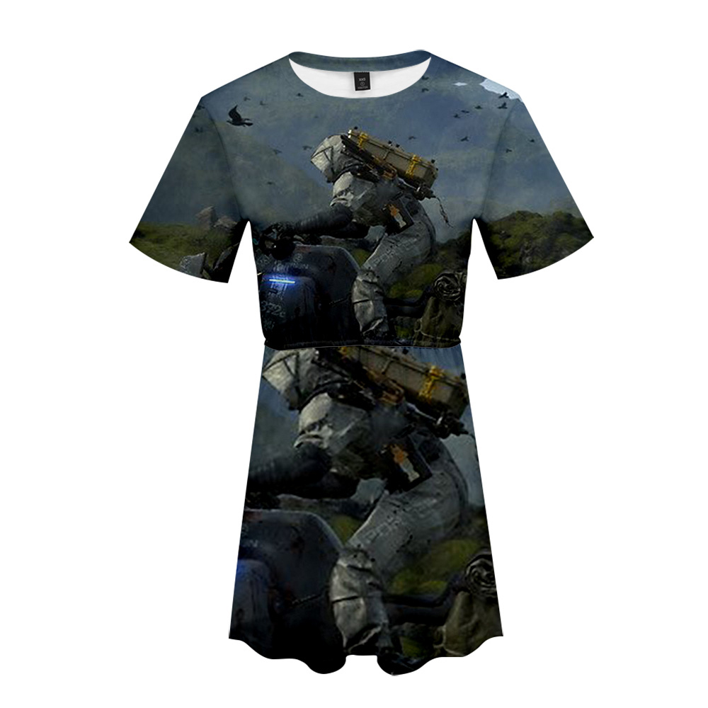 Death stranding Dress sexy suit Hot 2 Short Sleeve dress Final Fantasy dress High Quality Casual for women streetwear plus size