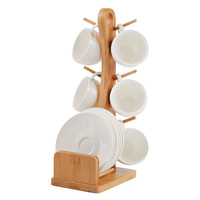 Ceramic coffee cup and saucer set portable hanging cup holder 6 sets of afternoon tea cup set wx9081504