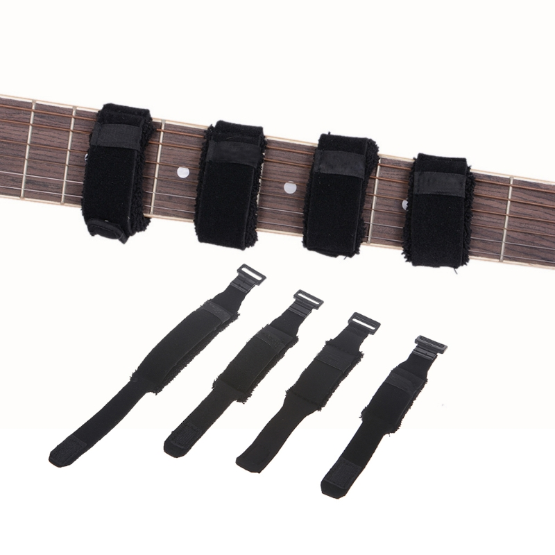 electric guitar bass string mute professional string dampener muting accessories 4 size in. Black Bedroom Furniture Sets. Home Design Ideas