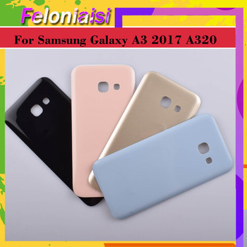 For Samsung Galaxy A3 2017 A320 A320F SM-A320F Housing Battery Door Rear Back Glass Cover Case Chassis Shell Replacemn image