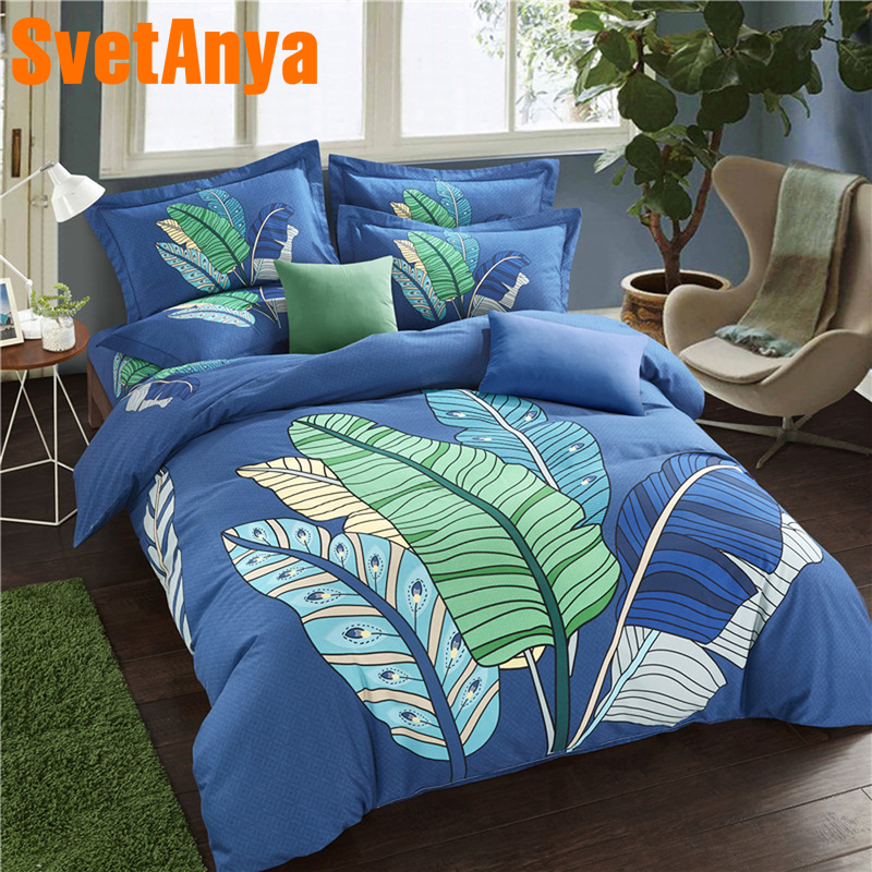 Svetanya Sanding Cotton Bedlinen Leaves Printed Bedding Set Queen King Full Double Size ( Sheet Pillowcase Duvet Cover Sets )Svetanya Sanding Cotton Bedlinen Leaves Printed Bedding Set Queen King Full Double Size ( Sheet Pillowcase Duvet Cover Sets )