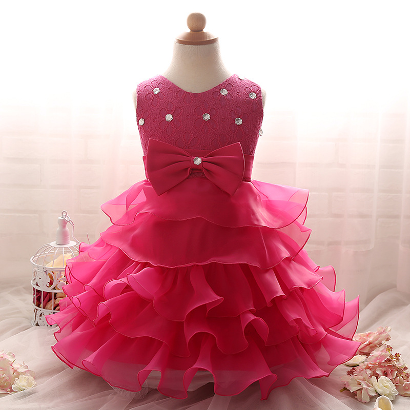 c90056afd 2016 Summer Baby Girls Wedding Party Dresses Infant Toddler Princess ...