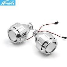 Ронан 2,5 Ксеноновые Ultimate Bi Xenon объектив проектора парковка для укладки фар DIY лампы для H1Bulb с кожухами H4 H7 разъем