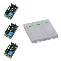 Newest AC 85V 110V 220V 250V Radio Remote Control Switch 10A Relay 1CH 3pcs Receivers For