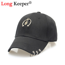 Long Keeper Venta caliente sonrisa Cara colgante sombrero GD unisex anillo  de hierro sombreros ajustables gorra de béisbol hombr. f0f763248f2