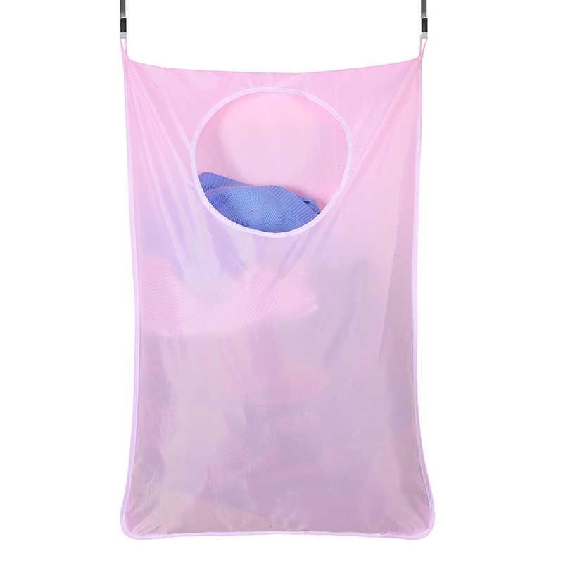Quarto Casa De Banho Pendurado Saco De Armazenamento Roupa Suja Cesto de roupa suja Sobre a Porta Grande Capacidade Durável Oxford Pano Saco de Reciclar