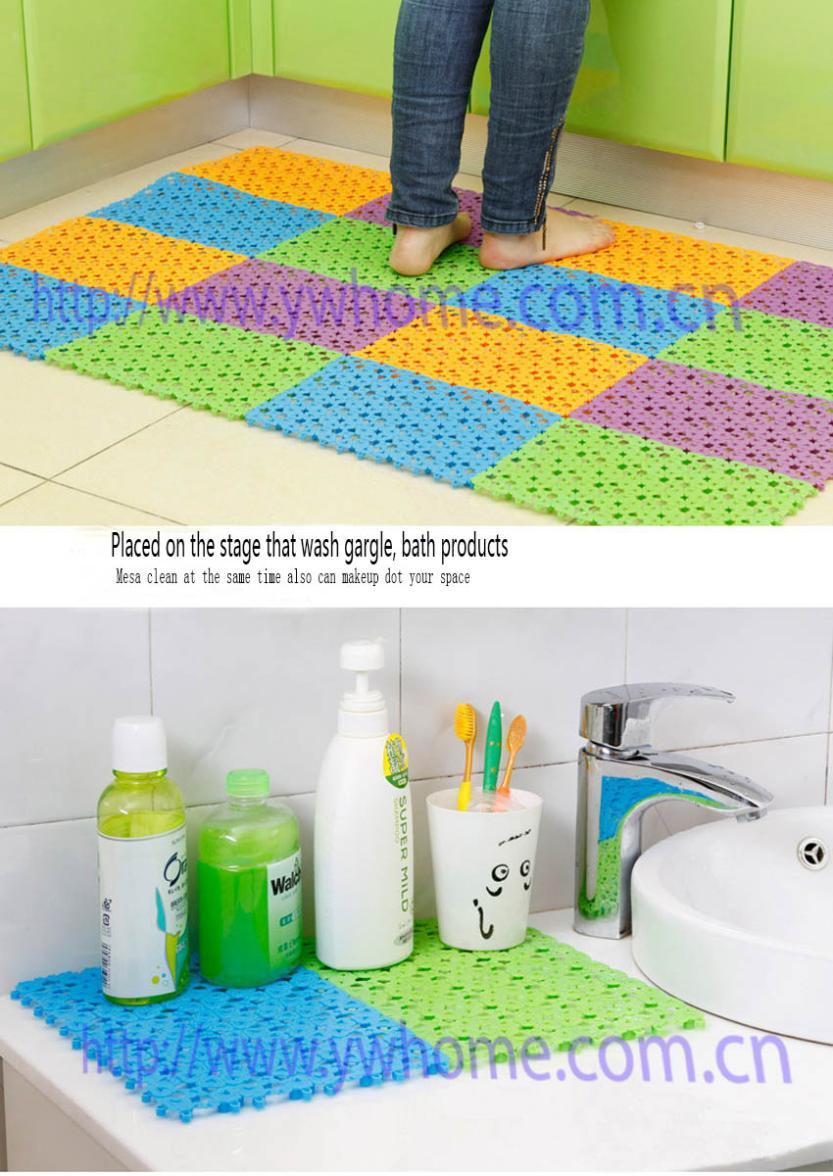 Rubber floor mats bathroom - 30 20cm Non Slip Rubber Floor Mats Bathroom Carpet Plastic Bath Mat Tapete De