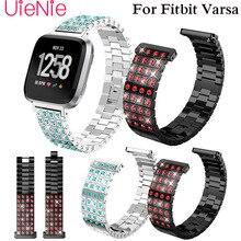 Frontier Metal steel strip watch band For Fitbit Versa Screwless Bracelet Replacement Wristband Accessories watchband