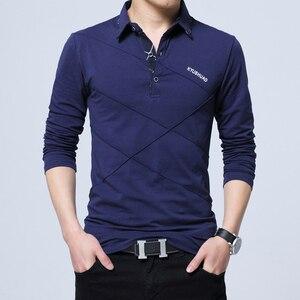 Image 2 - ARCSINX 5XL 폴로 셔츠 남성 플러스 크기 3XL 4XL 가을 겨울 브랜드 남성 폴로 셔츠 긴 소매 캐주얼 남성 셔츠 남성 폴로 셔츠