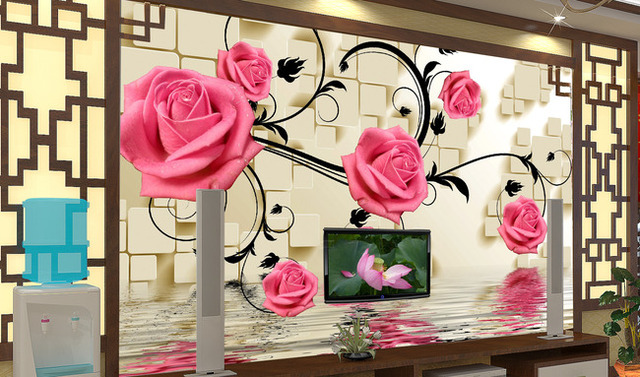 3D photo wallpaper 3D Customized TV background wall Chinese living ...