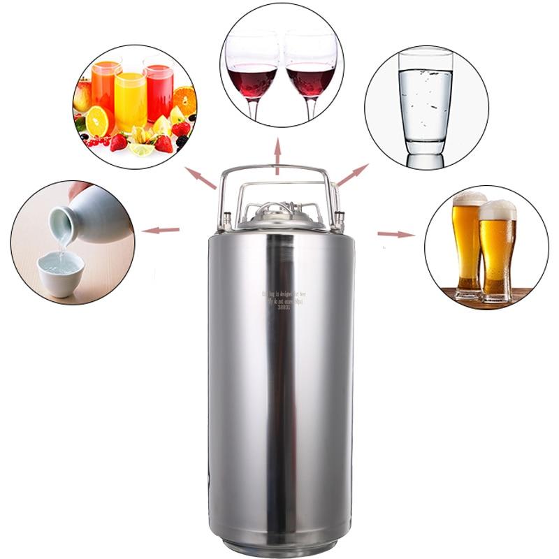 6/10/20L Stainless Steel Ball Lock Beer Keg Growler for Craft Beer Dispenser System