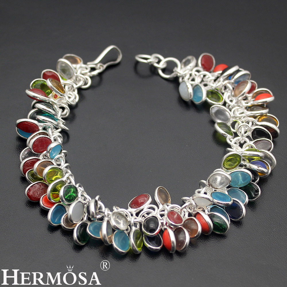 Aliexpress com buy latest hot sale colorful chalcedony exotic fashion lady jewelry 925 sterling silver bracelet earrings set ny176 free shipping from