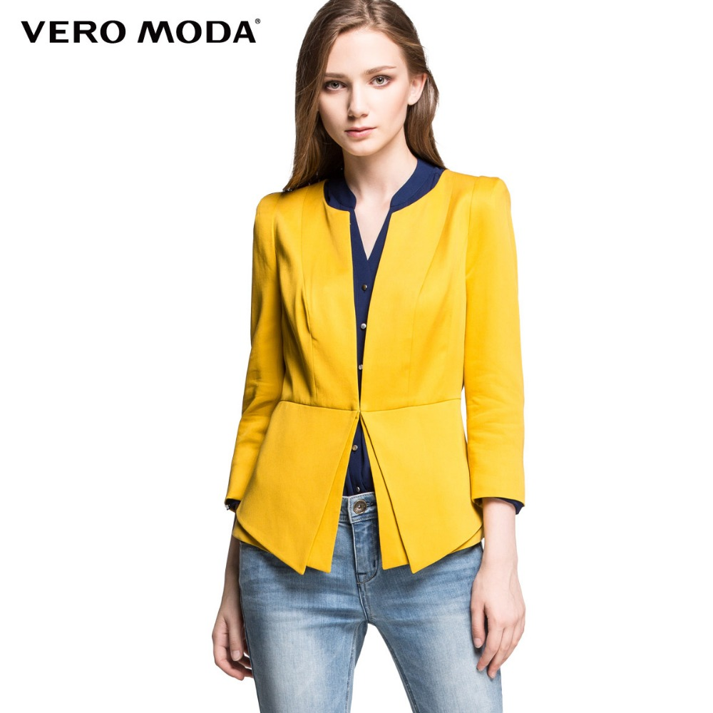 Vero Moda Brand hot Women fashion candy color coat solid jacket blazer outwear female business jacket