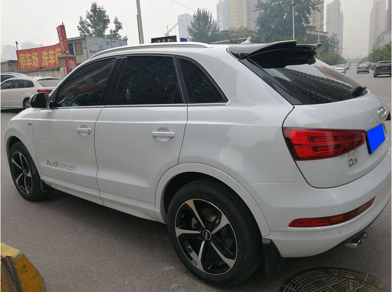 JIOYNG ABS PAINT CAR REAR WING TRUNK LIP SPOILER FOR  AUDI Q3 2013 2014 2015 2016 2017 BY EMS (ABT STYLE)