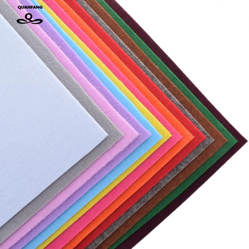 Non Woven Fabric 3mm Thickness Polyester Felt Of Home Decoration Pattern Bundle For Sewing Dolls Crafts 13pcs 30x30cm
