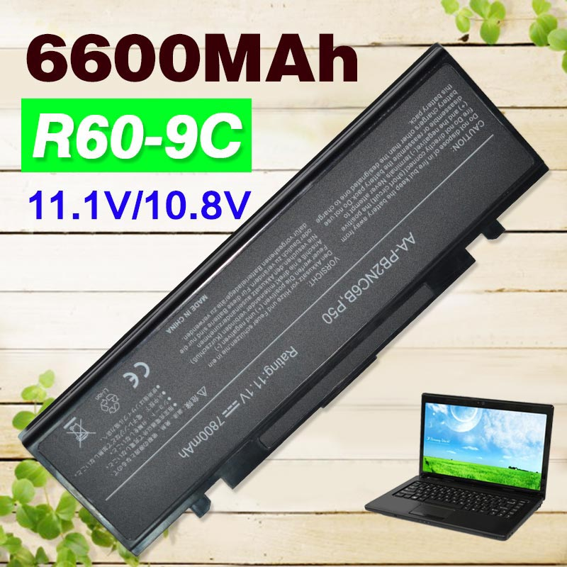 6600mAh Laptop Battery R40 R45 For Samsung R408 R410 R458 R460 R510 R60 R65 R70 R610