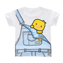 Brand Summer Children Clothing Boys Girls Printed T Shirts Baby Boys Cotton T Shirts Toddler Kids Cartoon Tee Tops 18M-7Y(China)