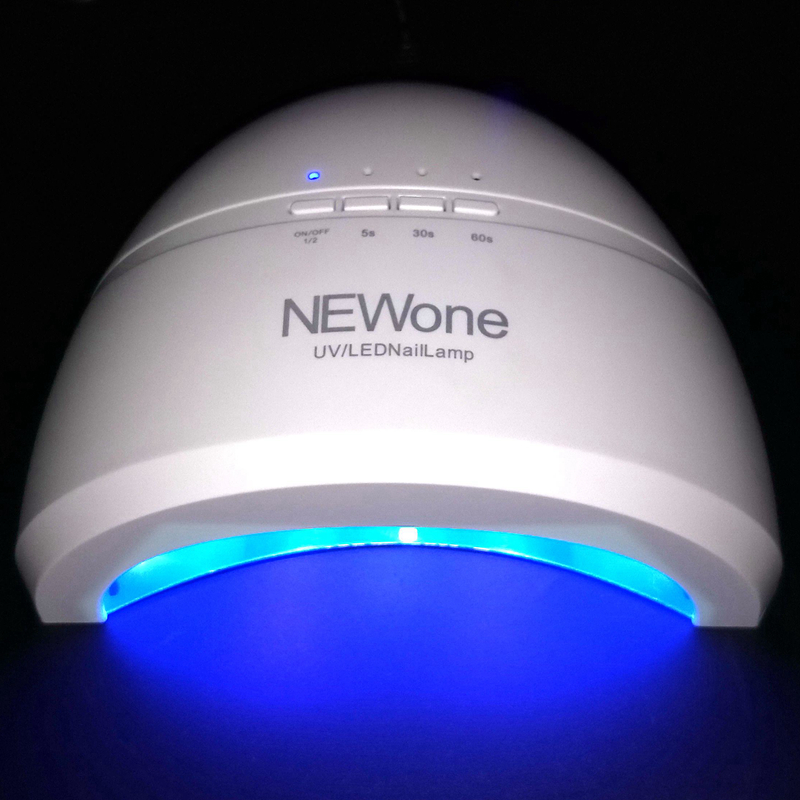 SUNone 48W Nail Dryer LED UV Lamp Gel Nail Polish Dryer Fingernail Toenail Gel Curing Nail Art Painting Salon Tools