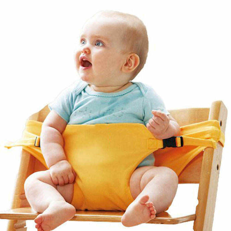 เด็กทารกแบบพกพาเก้าอี้สูงความปลอดภัยสายรัดรับประทานอาหารที่นั่งเข็มขัดรถเข็นเด็กอุปกรณ์เสริม