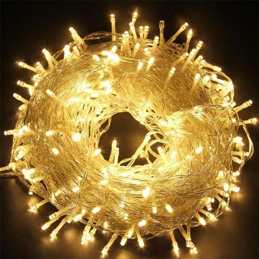 50 M/400 100 M/600 LED fée LED chaîne lumière extérieure étanche AC220V vacances chaîne guirlande pour noël noël fête de mariage