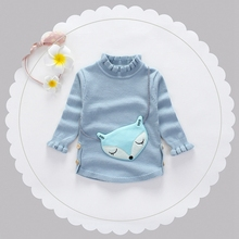 Autumn Winter Baby Girls Cotton Long Sleeve O Neck Loving Heart Pullover Knitwear Sweater Kids Knitted Princess Jumpers