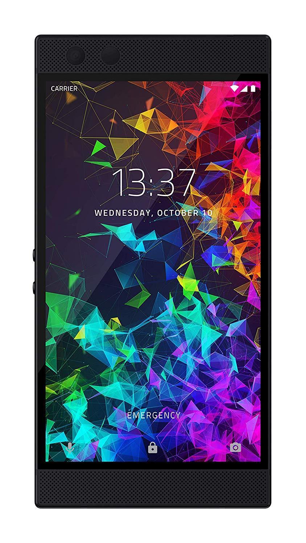 Razer Phone 2 Gaming (Smartphone pour application de jeux mobiles), couleur noire (noir), 64 go de mémoire intégrée dure, 8 go de RAM, Qual