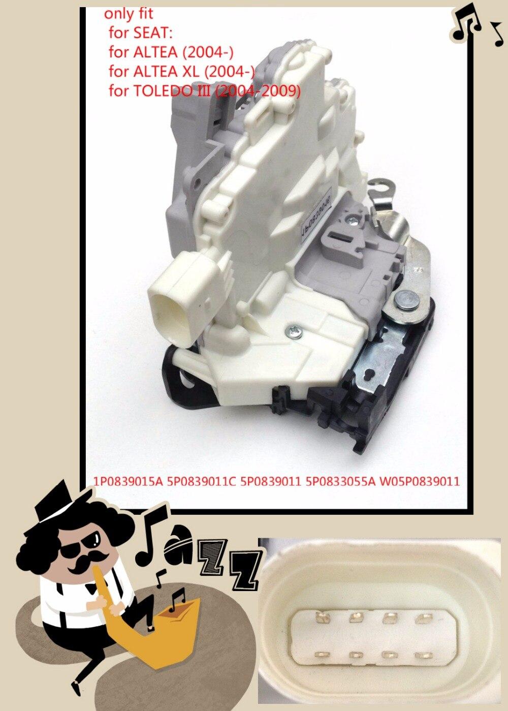 Arrière gauche pour SEAT ALTEA XL TOLEDO III Porte Verrouillage Mécanisme de Capture-1P0839015A 5P0839011C 5P0839011 5P0833055A W05P0839011