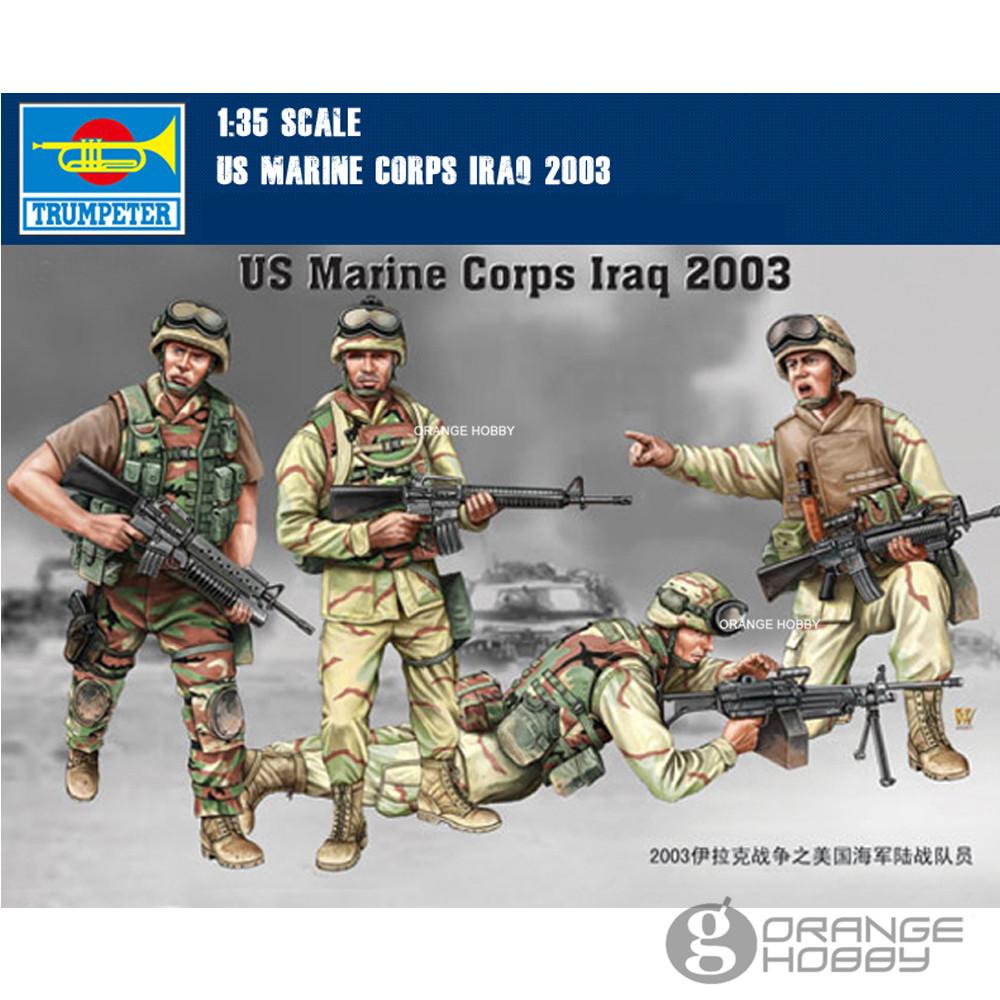OHS Trumpeter 00407 1/35 US Marine Corps Irak 2003 Miniaturen ...