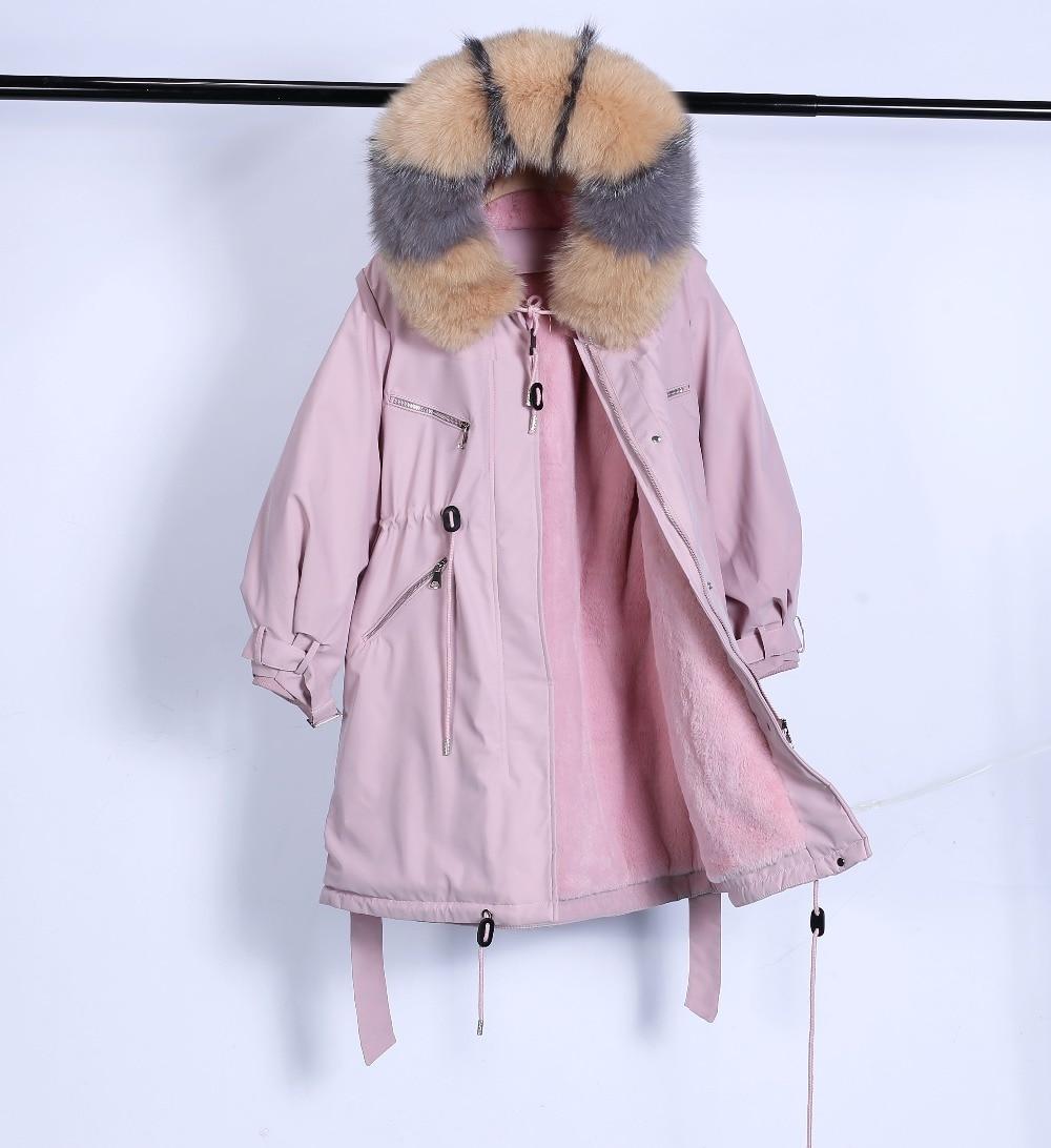 Large Natural Raccoon Fur Winter Jacket Women Hooded 19 Long Parkas For Female Thick Slim Down Winter Coat Women Waterproof 21