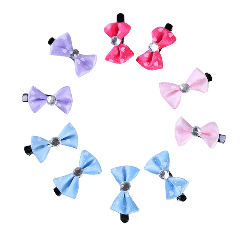 10Pcs Lovely <font><b>Dog</b></font> Puppy Cat Bow Hairpin Cute Pet Hair Clips Grooming <font><b>Accessories</b></font> image